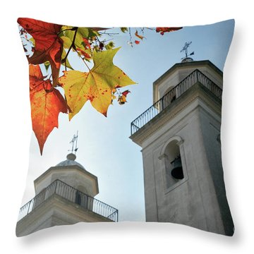 Throw Pillow featuring the photograph Colonia Del Sacramento Church by Bernardo Galmarini