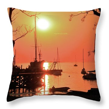 Colonia Del Sacramento I Throw Pillow by Bernardo Galmarini