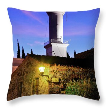 Throw Pillow featuring the photograph Colonia Lighthouse by Bernardo Galmarini
