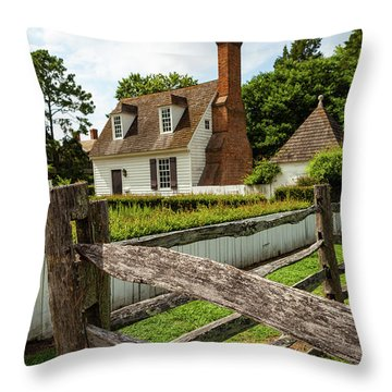 Colonial America Home Throw Pillow