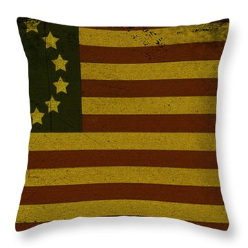 Colonial Flag Throw Pillow by Bill Cannon