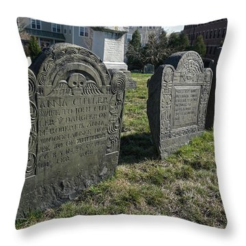 Colonial Graves At Phipps Street Throw Pillow