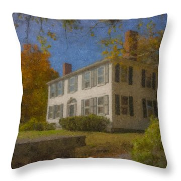Colonial House On Main Street, Easton Throw Pillow