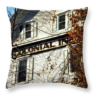 Colonial Inn Throw Pillow