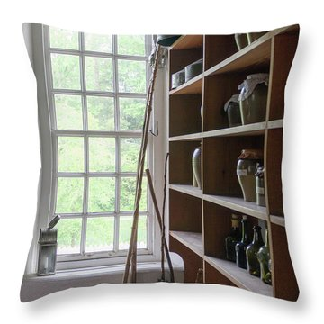 Colonial Kitchen Pantry Throw Pillow