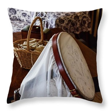Colonial Needlework Throw Pillow