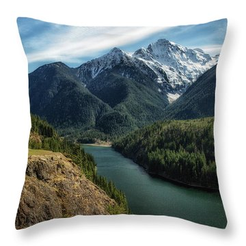 Colonial Peak Towers Over Diablo Lake Throw Pillow