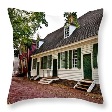 Colonial Times Throw Pillow by Christopher Holmes
