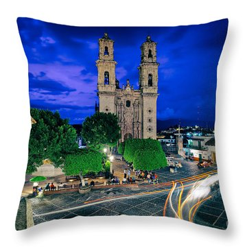 Colonial Town Of Taxco, Mexico Throw Pillow