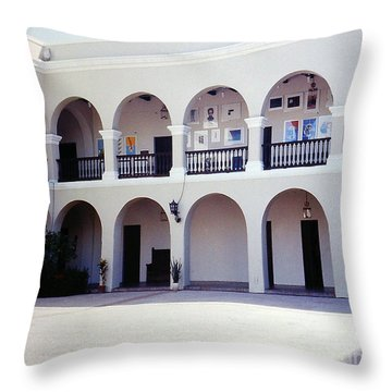 Colonnade In San Juan Puerto Rico Throw Pillow