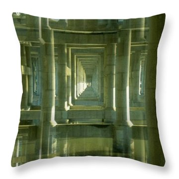 Colonnade Park Seattle Throw Pillow by Tim Allen