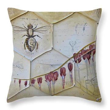 Colony Collapse Disorder Throw Pillow by K Llamas