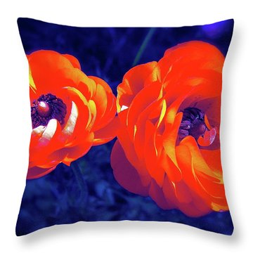 Color 12 Throw Pillow by Pamela Cooper