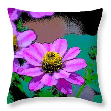Color 79 Throw Pillow by Pamela Cooper