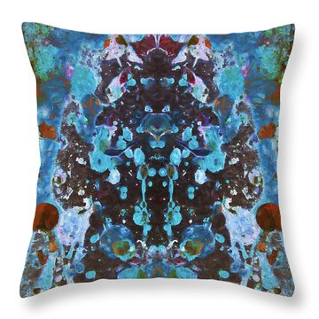 Color Abstraction Iv Throw Pillow by David Gordon