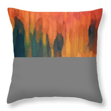 Color Abstraction L Sq Throw Pillow