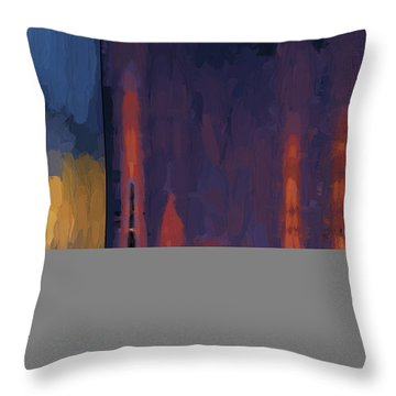 Color Abstraction Lii Throw Pillow