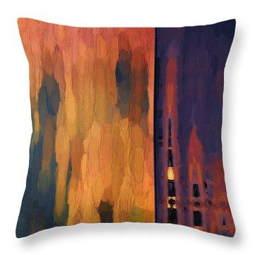 Color Abstraction Liv Throw Pillow