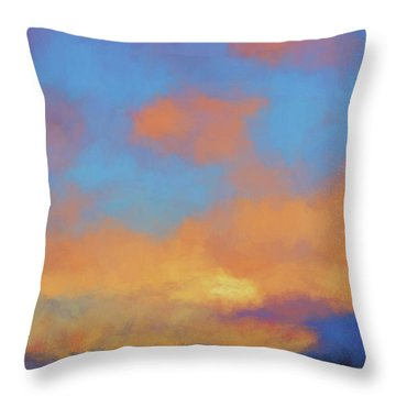 Color Abstraction Lvii Throw Pillow by David Gordon