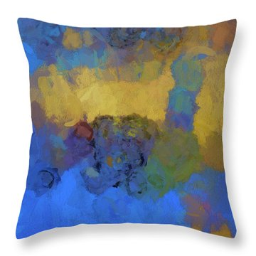 Color Abstraction Lviii Throw Pillow by David Gordon