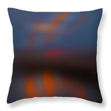 Color Abstraction Lxiii Sq Throw Pillow by David Gordon