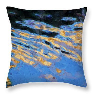 Color Abstraction Lxiv Throw Pillow by David Gordon