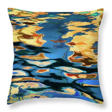 Color Abstraction Lxix Throw Pillow by David Gordon