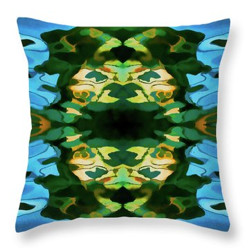 Color Abstraction Lxv Throw Pillow by David Gordon