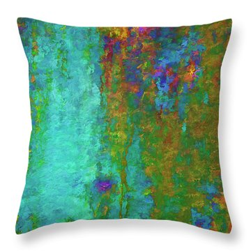 Color Abstraction Lxvii Throw Pillow by David Gordon