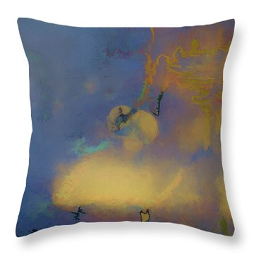 Color Abstraction Lxviii Throw Pillow by David Gordon
