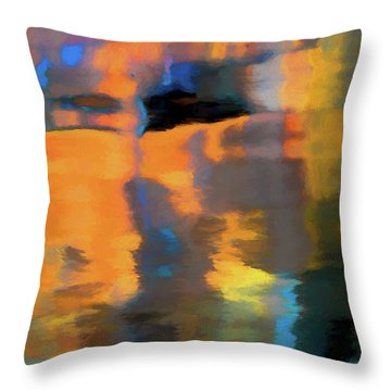 Color Abstraction Lxxii Throw Pillow by David Gordon
