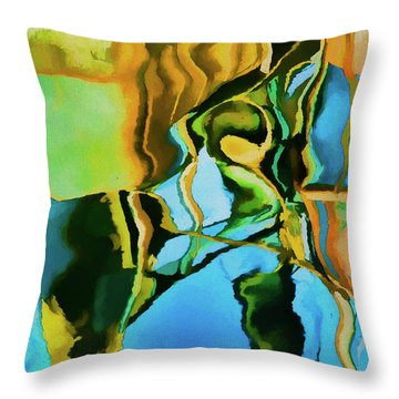 Color Abstraction Lxxiii Throw Pillow by David Gordon