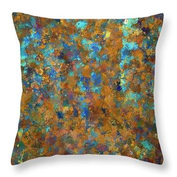 Color Abstraction Lxxiv Throw Pillow by David Gordon