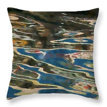 Color Abstraction Lxxv Throw Pillow by David Gordon