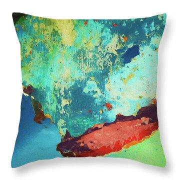 Color Abstraction Lxxvi Throw Pillow by David Gordon