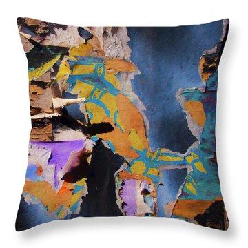 Color Abstraction Lxxvii Throw Pillow by David Gordon