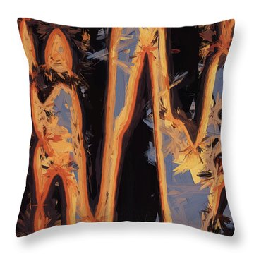 Color Abstraction Xli Throw Pillow by David Gordon