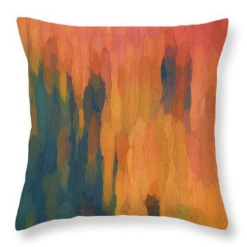 Color Abstraction Xlix Throw Pillow by David Gordon