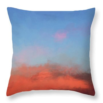 Color Abstraction Xlvii - Sunset Throw Pillow by David Gordon