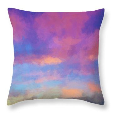 Color Abstraction Xlviii - Sunset Throw Pillow