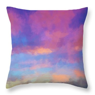 Color Abstraction Xlviii - Sunset Throw Pillow by Dave Gordon