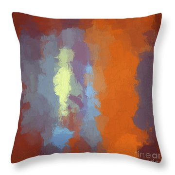 Color Abstraction Xxiii Sq Throw Pillow
