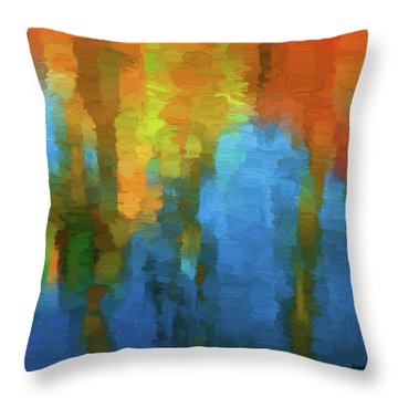 Color Abstraction Xxxi Throw Pillow