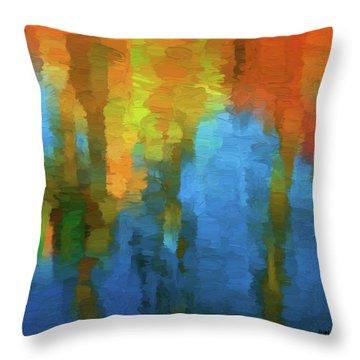 Color Abstraction Xxxi Throw Pillow by David Gordon