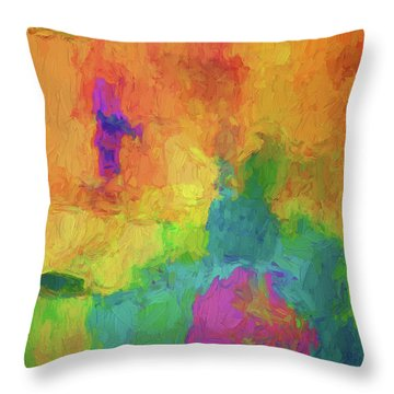 Color Abstraction Xxxiv Throw Pillow