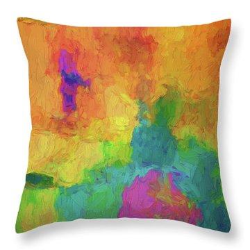 Color Abstraction Xxxiv Throw Pillow