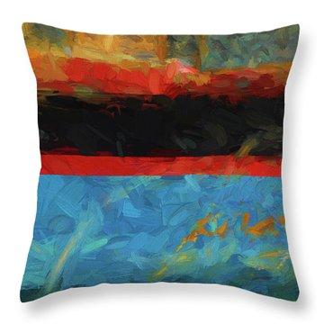 Color Abstraction Xxxix Throw Pillow by David Gordon