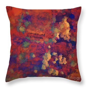 Color Abstraction Xxxv Throw Pillow