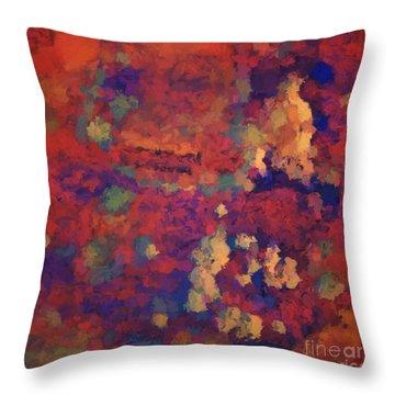 Color Abstraction Xxxv Throw Pillow by David Gordon