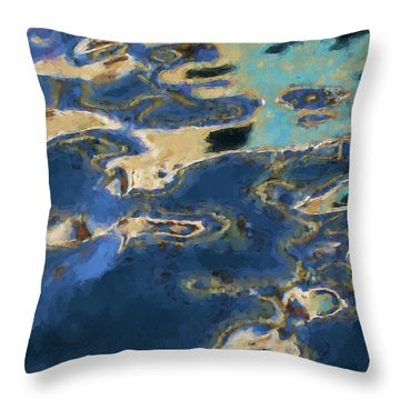 Color Abstraction Xxxvii - Painterly Throw Pillow by David Gordon